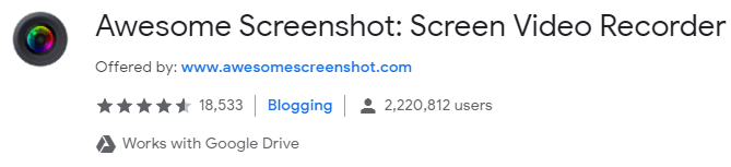 Awesome Screenshot Chrome Extension