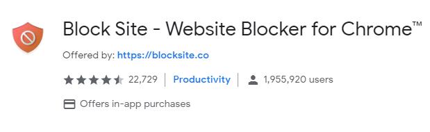 Block site Chrome Extension