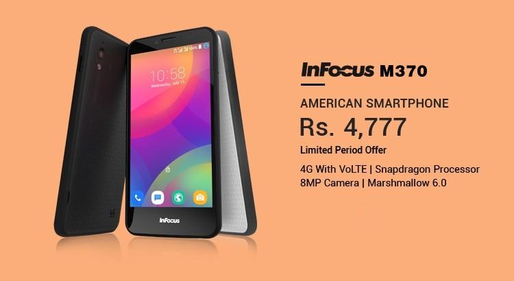 Top 10 Mobiles Under Rs 5000 in India, Infocus M370