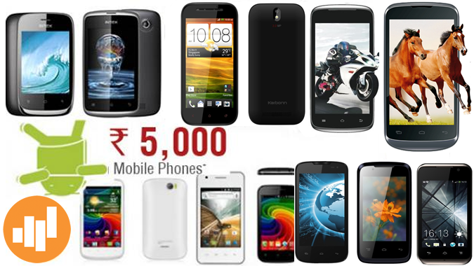 Top 10 Mobiles Under Rs 5000 in India