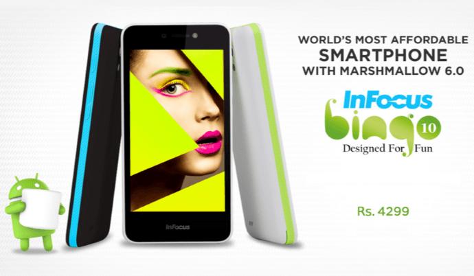 Top 10 Mobiles Under Rs 5000 in India, Infocus bingo 10