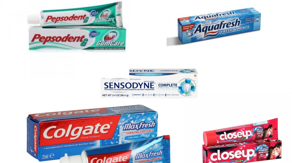 Best Tooth paste brands