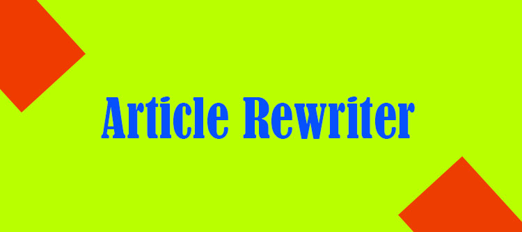 What Does a Simple Article Rewrite Mean?